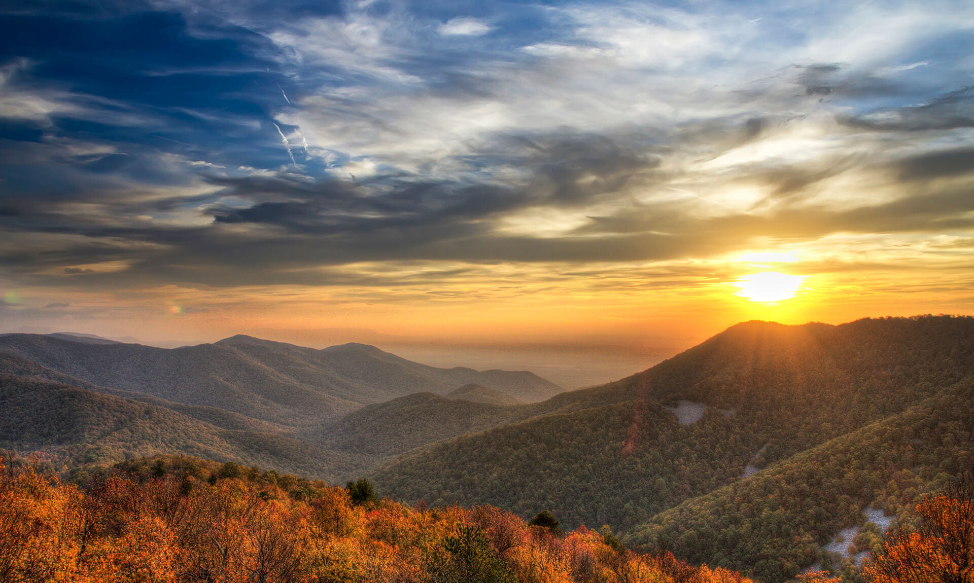 Appalachian Trail Mountain View Sunset